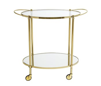 Bloomingville Fine bar trolley goud