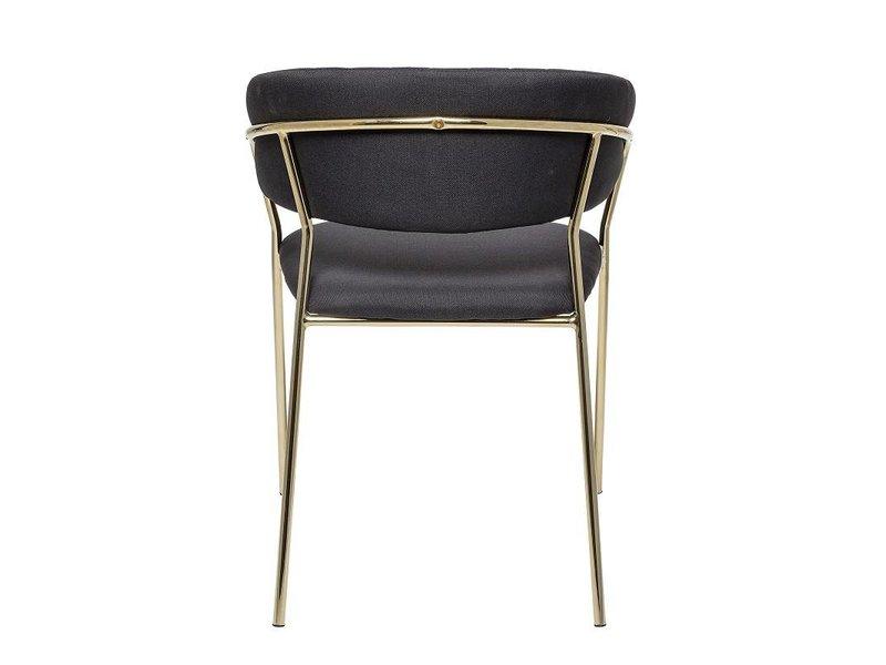 Bloomingville Form stol sort - sæt af 2
