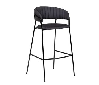 Bloomingville Form bar stool black - set of 2