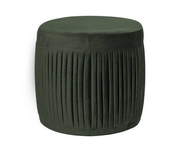 Bloomingville Pleat pouf velvet green