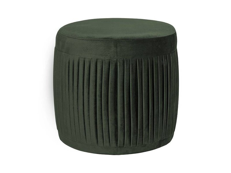 Bloomingville pleat pouf verde velluto living and co.