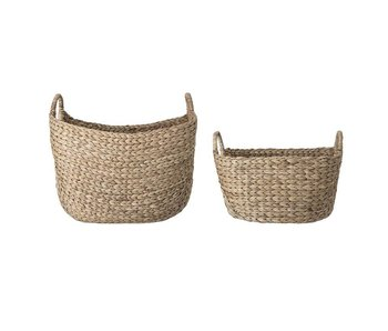 Bloomingville Baskets set with handle natural