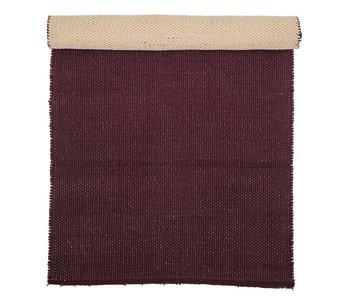 Bloomingville Tapis coton rouge foncé