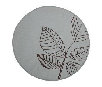 Bloomingville Tapis vert en coton avec motif