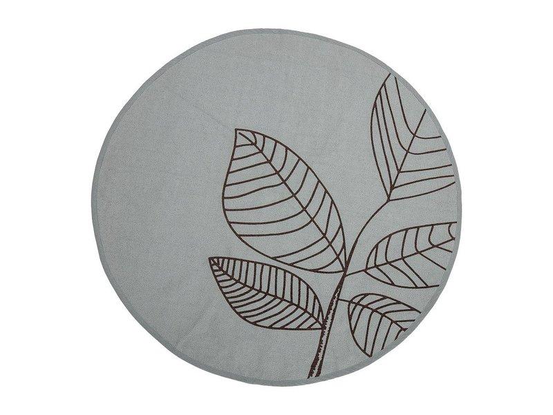 Bloomingville Tæppe grøn bomuld med mønster