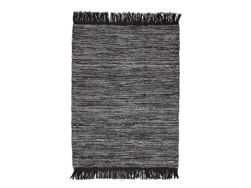 Bloomingville Tæppe grå uld