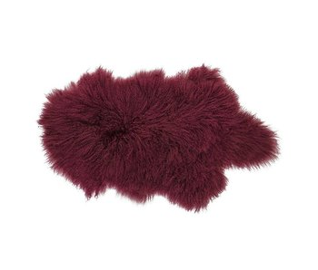 Bloomingville Sheepskin dark red