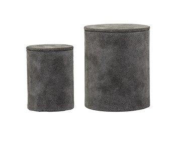 Bloomingville Storage box gray suede
