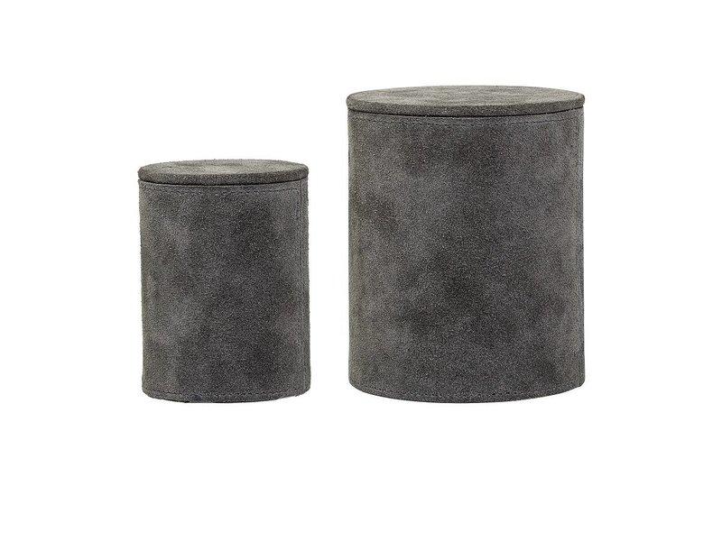 Bloomingville Opbevaringskasse grå ruskind