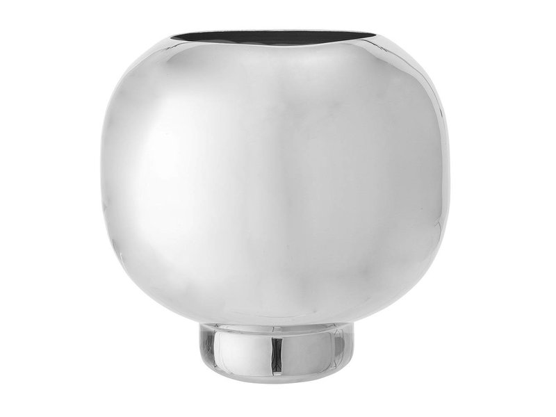 Bloomingville Vase Silver Aluminum Living And Co