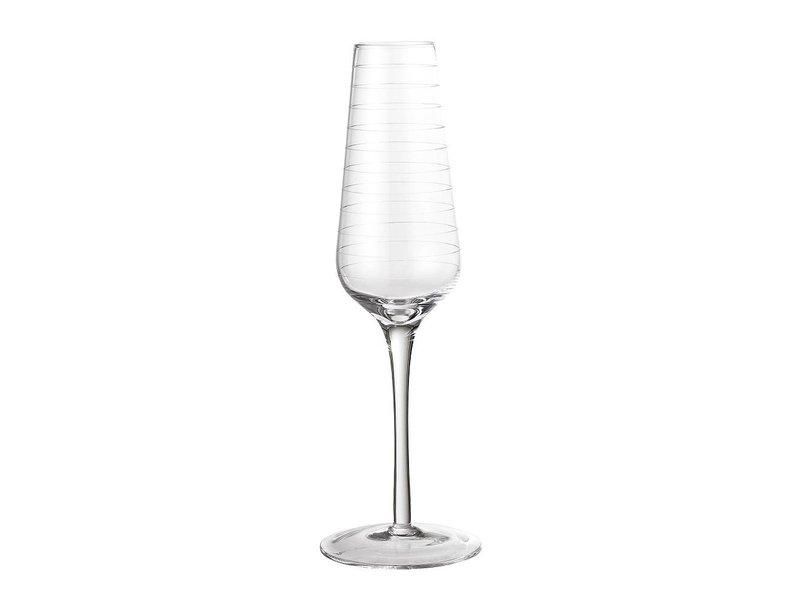 Bloomingville Champagne glas - set van 12 stuks