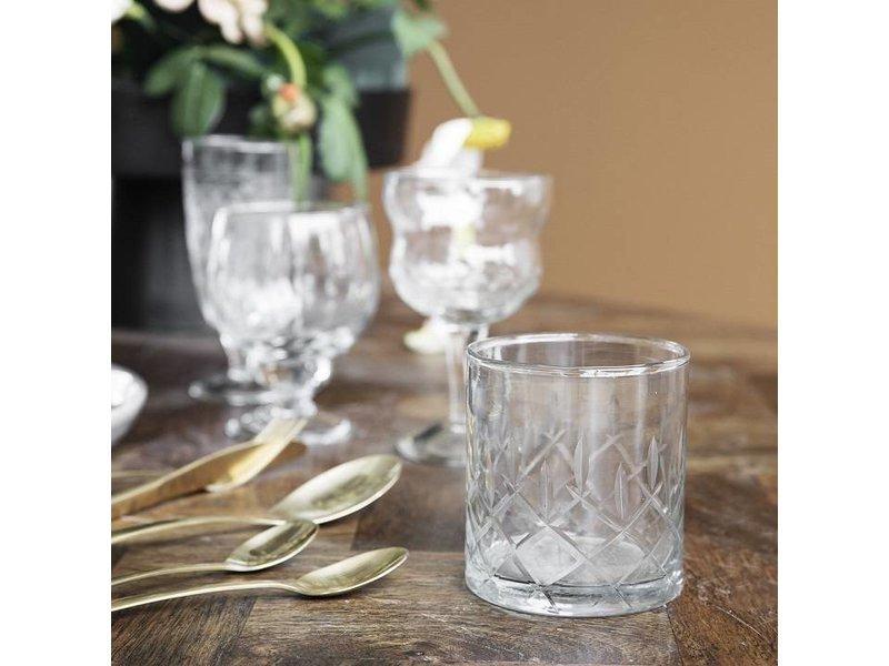 House Doctor Vintage whisky glas Ø8x9cm - set van 12 stuks