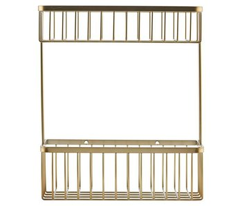 House Doctor Bath Double rack brass