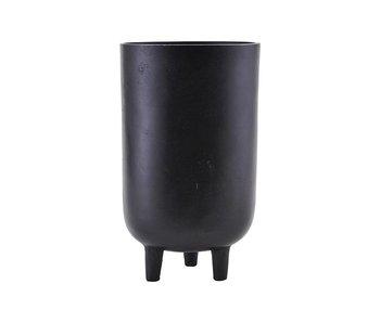 House Doctor Jang flowerpot black Ø15cm