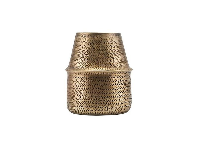 House Doctor Rattan blomsterpotte messing Ø19cm