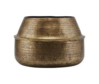 House Doctor Rattan flowerpot brass Ø38cm