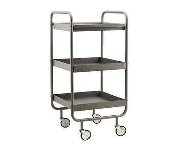 House Doctor Roll trolley gray metal
