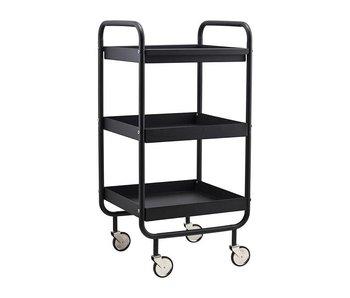 House Doctor Rollwagen aus schwarzem Metall