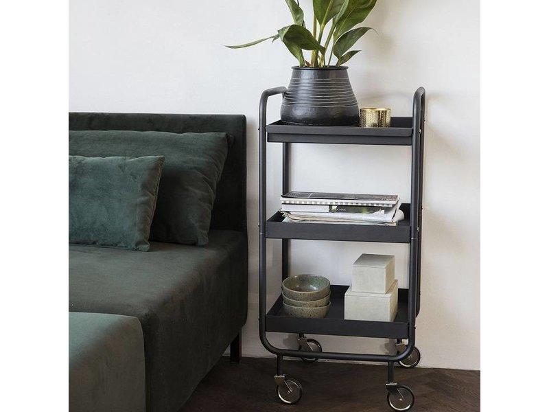 House Doctor Roll trolley zwart metaal