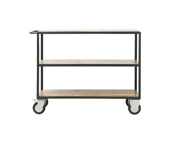 House Doctor Trolley brown wood metal