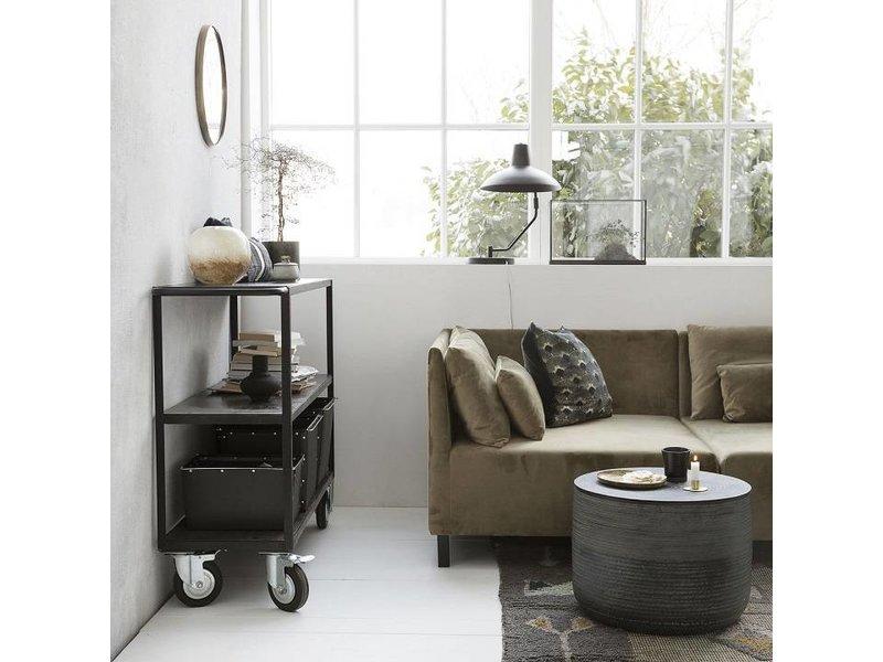 House Doctor Trolley svart trämetall