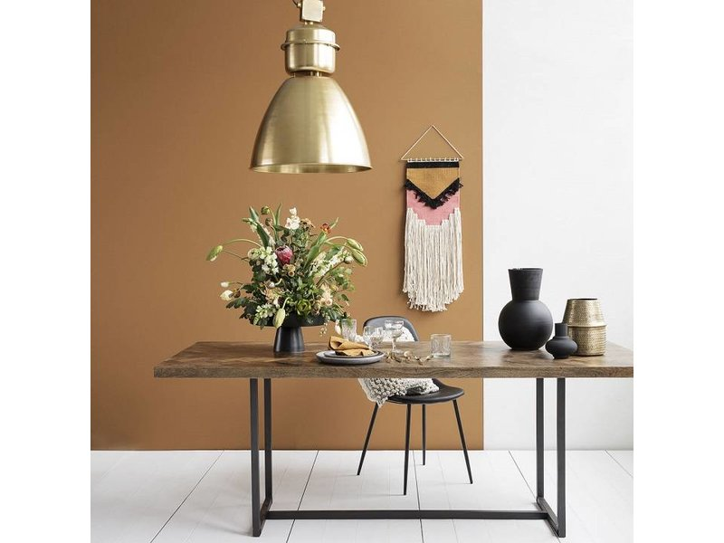 House Doctor Eettafels : House doctor kant eettafel bruin hout living and co