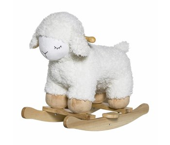 Bloomingville Mini Rocking sheep white