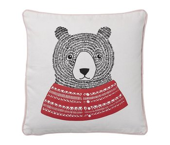 Bloomingville Mini Cushion with bear print