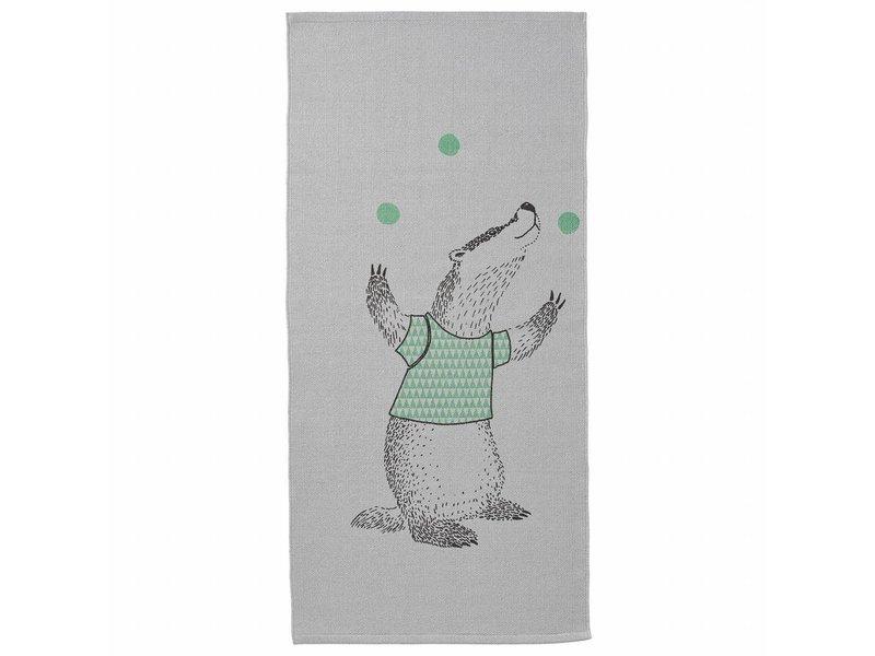 Bloomingville Mini Tæppe med vaskebjørn print