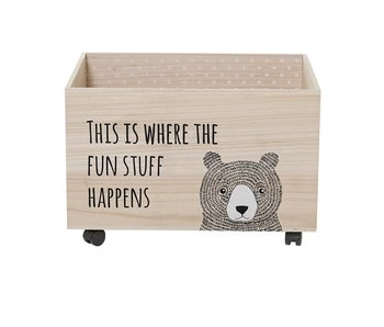 Bloomingville Mini Storage chest on wheels with print