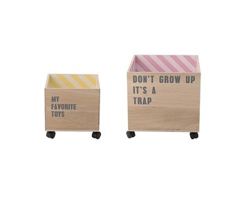 Bloomingville Mini Storage boxes with text
