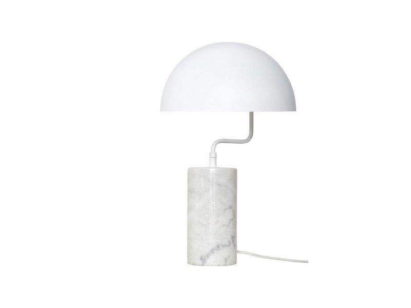 Hubsch Tafellamp wit marmer