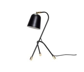 Hubsch Bordlampe sort metal med messing detaljer