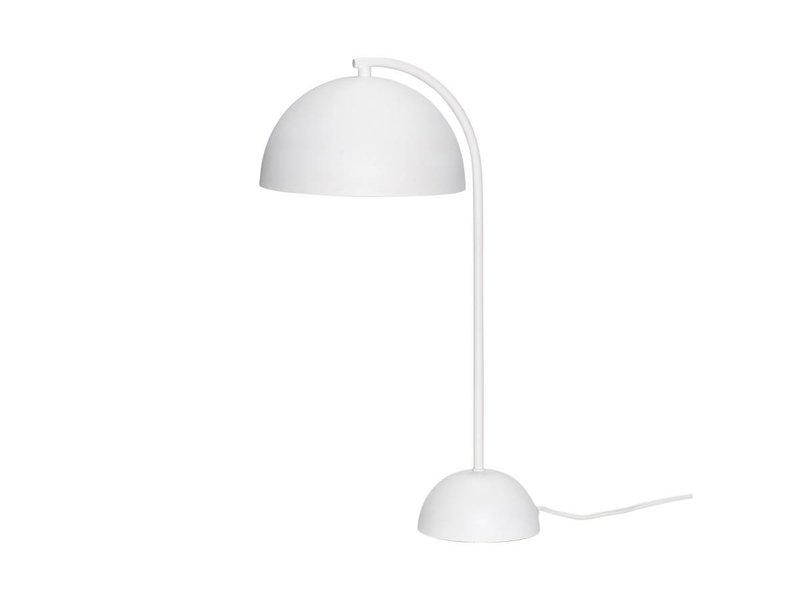 Hubsch Bordslampa vit metall