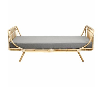 Nordal Rattan daybed med grå madrass