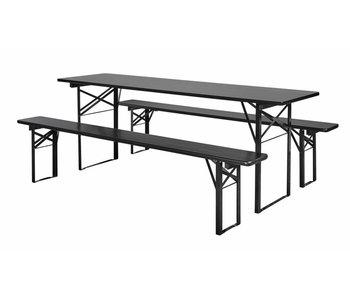 Nordal Tisch mit Bänken schwarz gesetzt