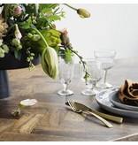House Doctor Kant eettafel hout metaal