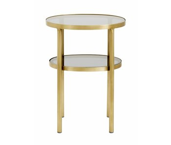 Nordal Side table gold with glass