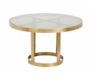 Nordal Sofabord guld med glas