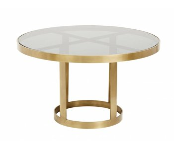Nordal Table basse en or avec verre