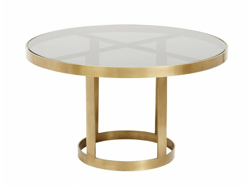 Nordal Couchtisch Gold Mit Glas Living And Co