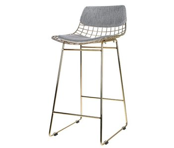 HK-Living Pillow gray for metal bar stool