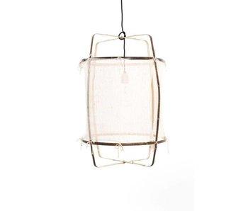 Ay Illuminate Lámpara colgante Z1 cachemir de bambú blanco ø67x100cm
