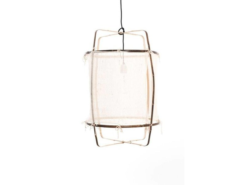 Ay Illuminate Hængelampe Z1 bambus hvid kashmir ø67x100cm