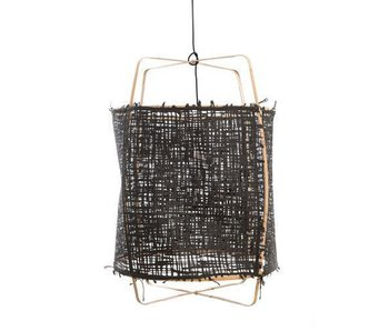 Ay Illuminate Hanging lamp Z2 blond bamboo black cardboard ø67x100cm