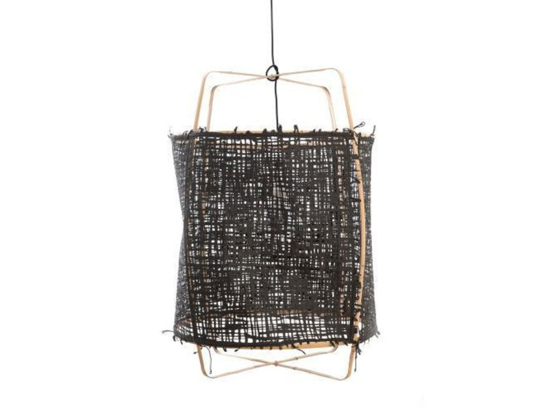 Ay Illuminate Hanglamp Z2 blond bamboe zwart karton ø67x100cm