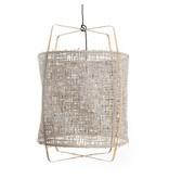Ay Illuminate Hanging lamp Z2 blond bamboo gray cardboard ø67x100cm