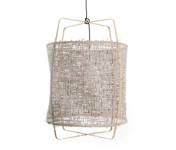 Ay Illuminate Hengelampe Z2 blond bambus grå kartong ø67x100cm