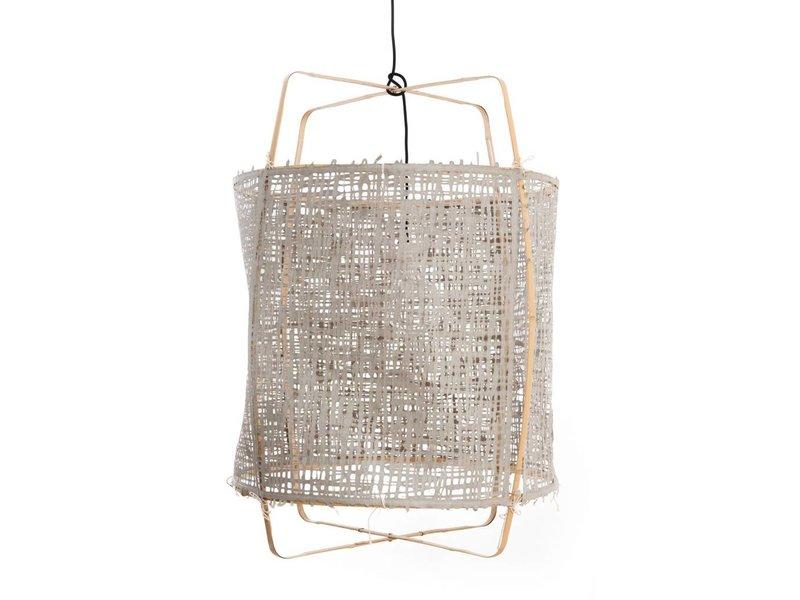 Ay Illuminate Hängeleuchte Z2 blond Bambus grau Karton ø67x100cm