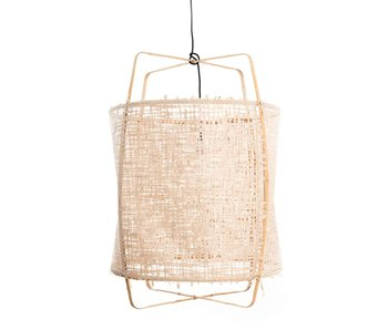 Ay Illuminate Hanging lamp Z2 blond bamboo natural cardboard ø67x100cm